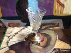 Régi váza eladó , ezüst talpú