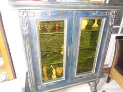 Shabby chic vitrines szekrény