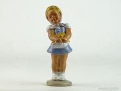 0L812 Jelzetlen kerámia szőke hajú kislány figura
