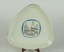 0L817 Hollóházi porcelán tál HALÁSZBÁSTYA