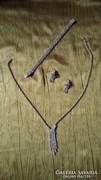 Régi ékszer szett strassz kövekkel