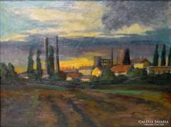 0L786 Bede István : Gyárváros 1962