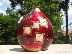 Új Dekoratív érdekes egyedi formájú -váza kézi festés -ajándékba is