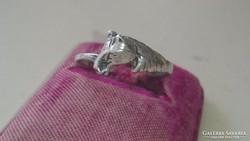 Ezüst gyűrű pici lovacska fejjel