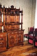 Antik étkezőbútor ,16 darabos
