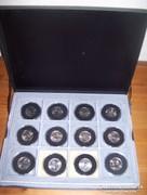 Érmegyűjtemény - 24 db - 1/4 dollárosok