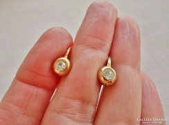 Szép antik aranyozott köves fülbevaló