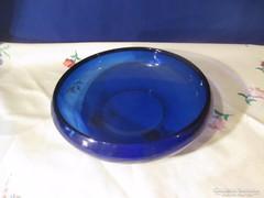 Kék üveg kínáló tál Á066