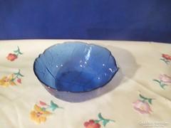 Kék  üveg  tálka Á066