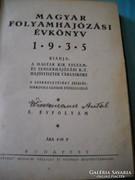 Antik könyv eladó! Magyar Királyi Folyamhajózási évkönyv!