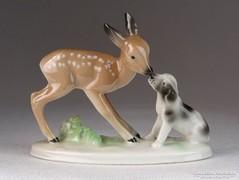 0M645 Unterweissbach porcelán figura pár