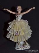 Kézzel festett Steiner tüllszoknyás balerina