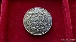 Lengyelország 50 groszi 1938 kiváló.