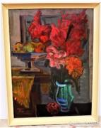 Freytag Zoltán (1901-1983) Csendélet Képcsarnokos 86x66cm