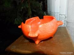 Narancssárga asztalközép hamutál  - Gorka Géza