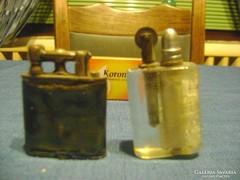 Antik, gyöngyház, réz, stb. anyagú öngyújtó - két darab