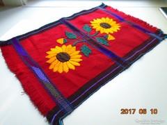 Mexikói kézműves szőttes hímzett terítő-50 x 35 cm