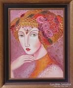 EDELINE-B.Tóth Irisz festmény KERETTEL
