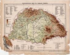 Magyarország hegy- és vízrajzi térkép 1899, atlasz, eredeti