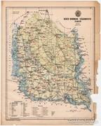 Bács - Bodrog vármegye térkép 1899, Magyarország atlasz (a)
