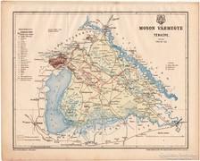 Moson vármegye térkép 1899, Magyarország atlasz (a), megye