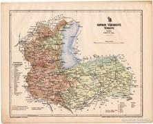 Sopron vármegye térkép 1899, Magyarország atlasz (a), megye