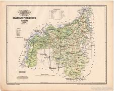 Szabolcs vármegye térkép 1899, Magyarország atlasz (a)