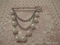 Vintage  gyöngy bross,kitűző.