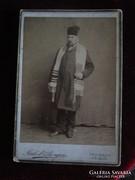 JUDAIKA VALLÁSOS ZSIDÓ FÉRFI JELZETT FOTÓ  IMASÁL 1898 JUDAICA JUDAIZMUS