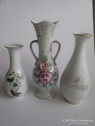 3 db német hibátlan porcelán váza olcsón
