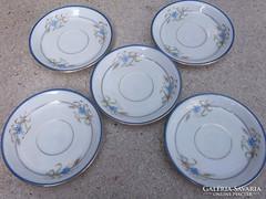 antik süteményes tányérka kék-arany minta