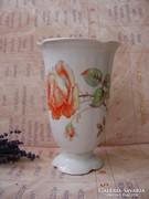 Antik virágos Drasche váza