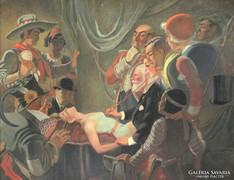 Magyar festő, 1920 körül: A lezuhant légtornásznő