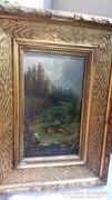 Markovics Iván olaj fa festmény vadászat