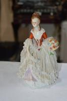 Német női porcelán figura