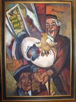REMSEY JENŐ GYÖRGY festménye : Tojás c.