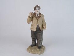 """0M725 Oliver Hardy """"Pan"""" porcelán figura 26 cm"""
