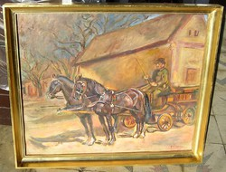 PIRK  JÁNOS eredeti festménye garanciával magángyűjteményből közvetlenül a művésztől vásárolva