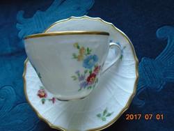 """""""Dresden""""antik egyedi virág és dombormintás csésze+alátét(1)"""