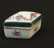 Mini porcelán fedeles tartó - jelzett