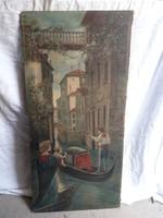 Koszkol Jenő olaj vászon festmény.