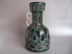 E. EISCH művészi üveg (pávaszem dekor)