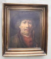 Antik keret Rembrandt önarcképével