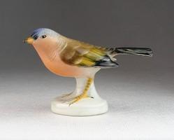 0N090 Régi Aquincum porcelán madár figura 6.5 cm