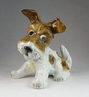 0N271 Unterweissbach porcelán kutya figura