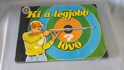 Mhsz -es régi játék ,Ki a legjobb lövő társasjáték