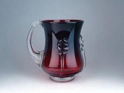 0N241 Fújt üveg BOHEMIA művészi üveg kancsó