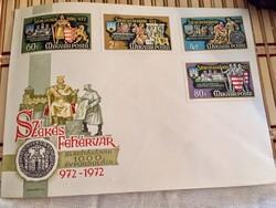 1000 éves Székesfehérvár elsőnapi boríték 1972-ből