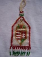 Tisztilánc magyar címerrel- gyöngyfonás