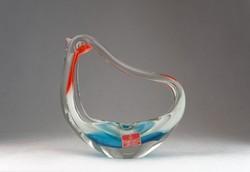 0N114 Madár alakú színezett művészi üveg hamutál